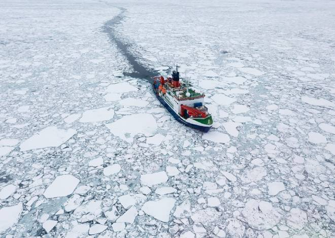 boat in ice mission